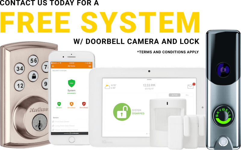 Contact us Today for a free system with doorbell and lock